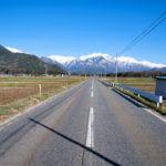 北アルプスが見える長野県の画像