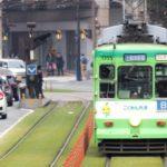熊本県の路面電車の画像