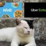 wolt(ウォルト)とubereats(ウーバーイーツ)比較する画像