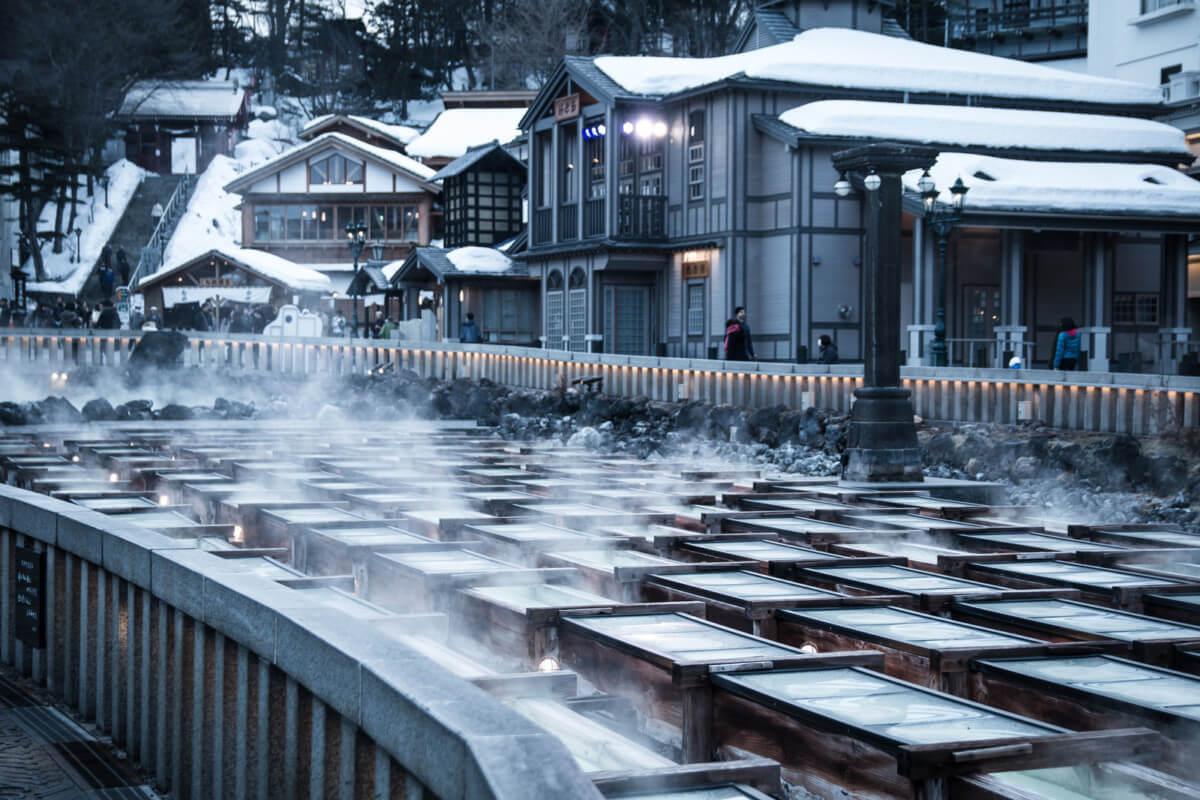 群馬県の草津温泉の画像