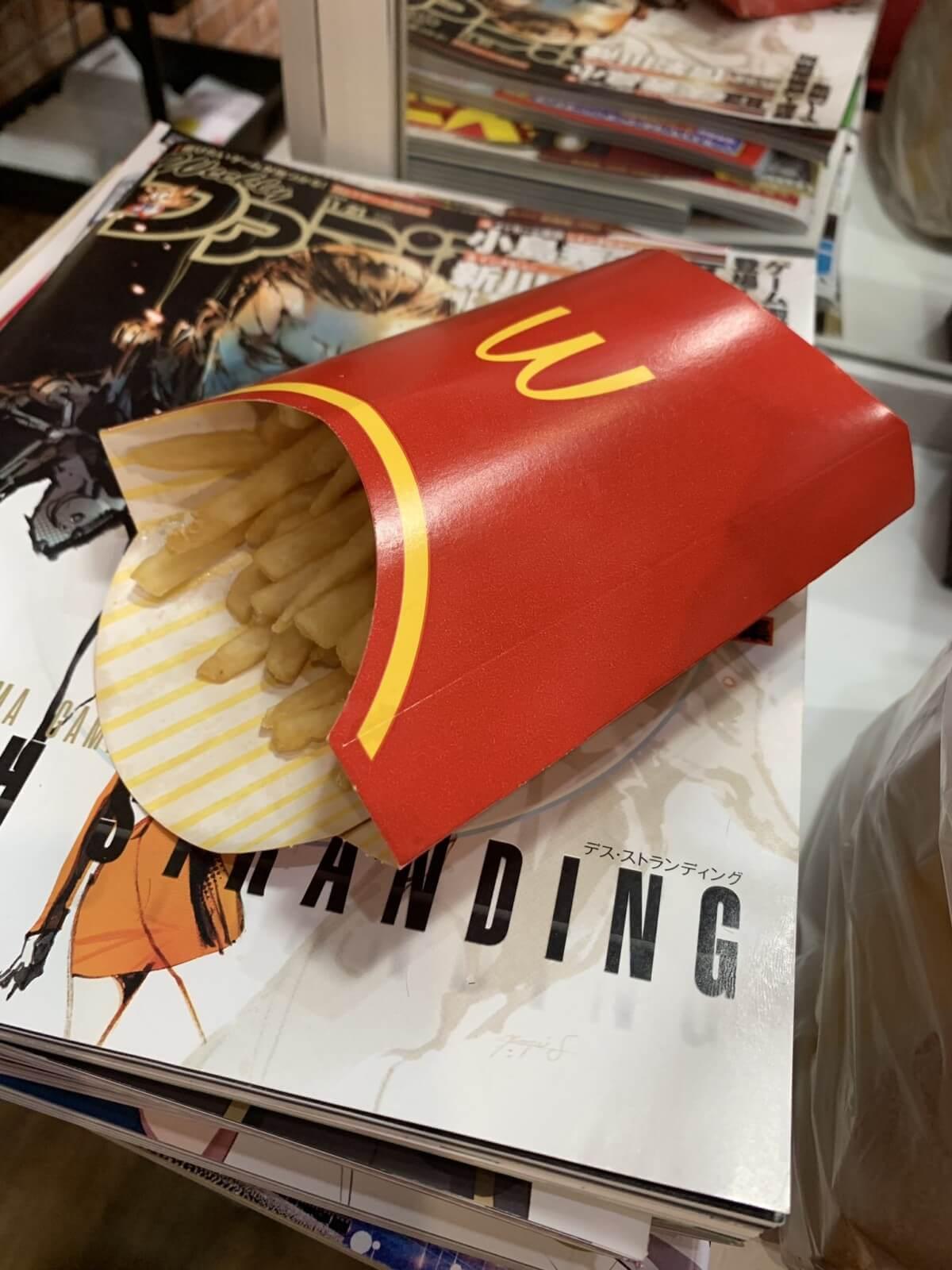 ウーバーイーツのポテトつまみ食い画像