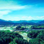 岡山県鏡野町の田んぼの画像