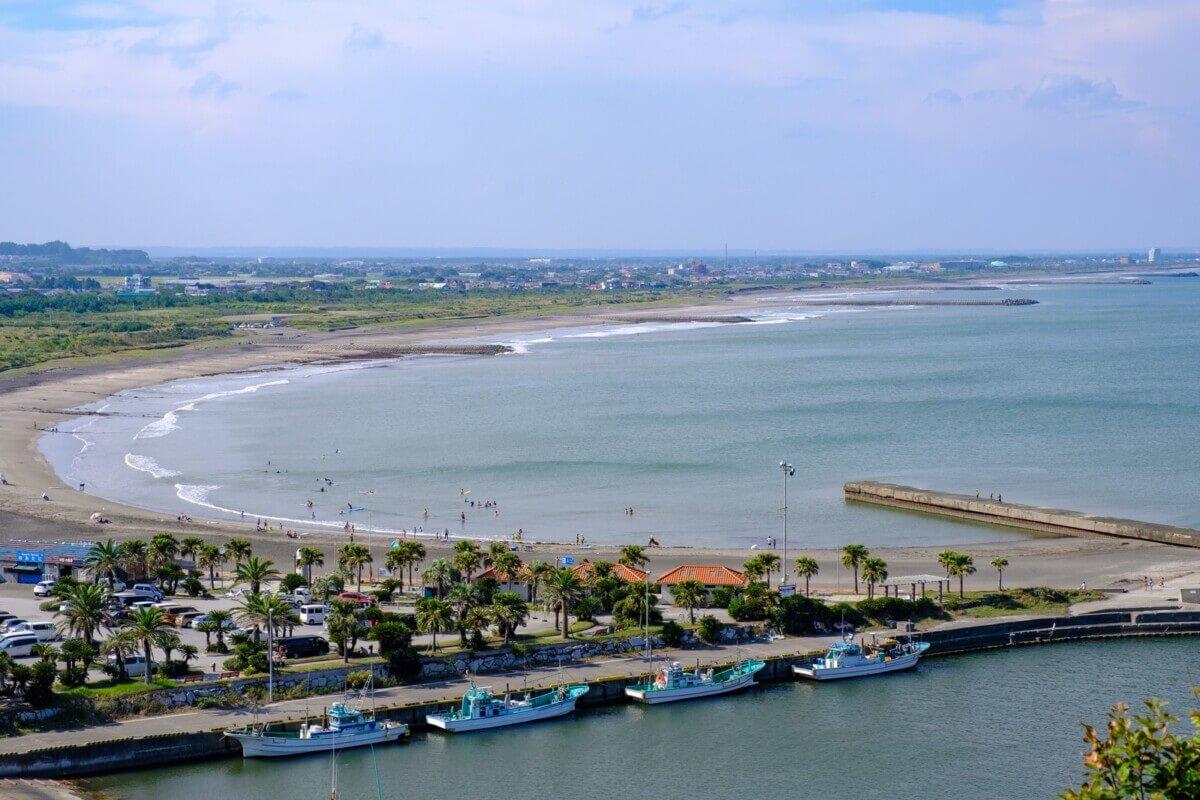 千葉県一宮町の海の画像