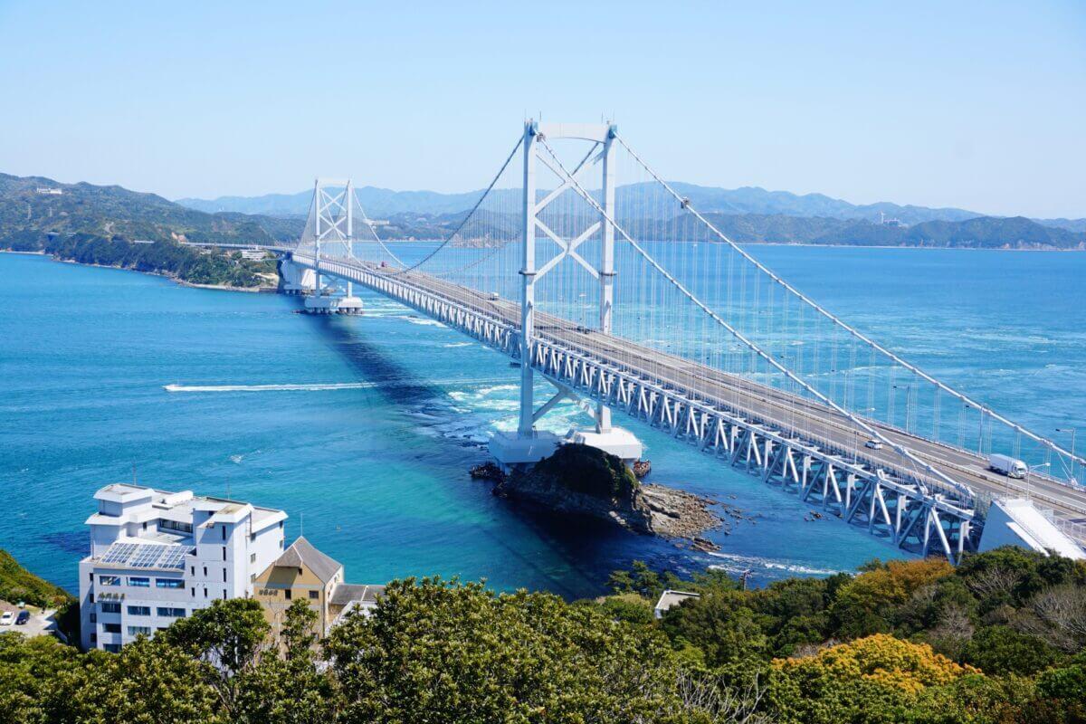 大鳴門橋と瀬戸内海、徳島県の画像